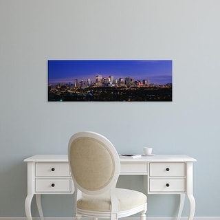 Easy Art Prints Panoramic Images's 'City skyline at night, Edmonton, Alberta, Canada' Premium Canvas Art