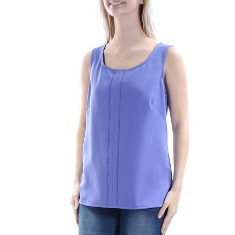 ANNE KLEIN Purple Sleeveless Jewel Neck Top Size: 2