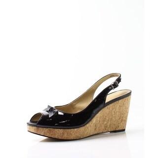 Trotters NEW Black Women Shoe Size 6N Allie Patent Leather Sandal
