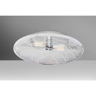 """Besa Lighting 9289C Besa Uno 2 Light 15-3/4"""" Wide Flush Mount Ceiling Fixture wi (2 options available)"""