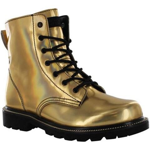 Gotta Flurt Women's Luna Boot Gold/Black Metallic Patent Pu