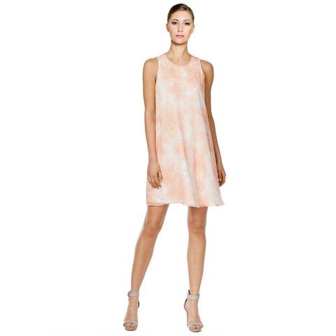Calvin Klein Petite Floral Print Sleeveless Shift Dress Peach Multi