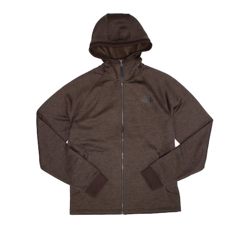 The North Face Mens Sweater Brown Size Medium M Zip-Front Fleece Hooded