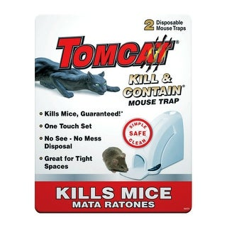 Tomcat 0360610 Kill & Contain Mouse Trap, Plastic