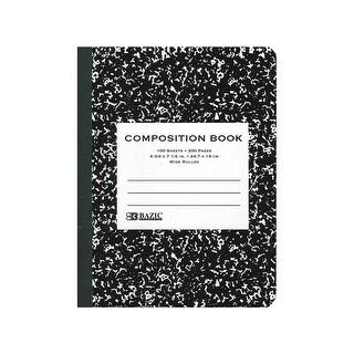 Bazic Composition Bk Black Marble 100sht Wide