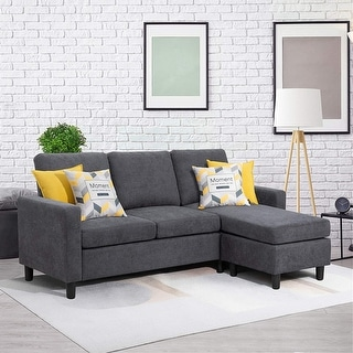 Link to Convertible Sectional Sofa Couch with Reversible Chaise, L-Shaped Couch Color Opt Similar Items in Sofas & Couches