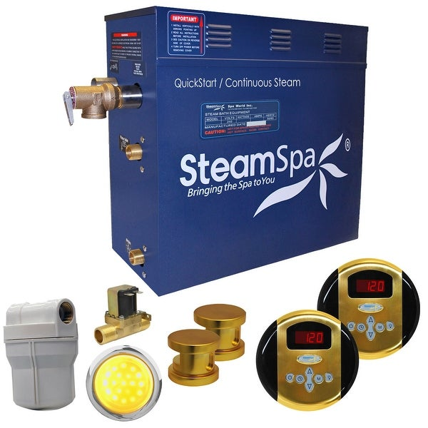 SteamSpa RY1200-A Royal 12 KW QuickStart Acu-Steam Bath Generator Package with Built-in Auto Drain and Digital Controller