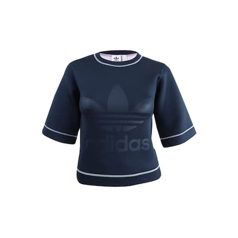 Adidas Women's Reversible 3/4-Sleeve Sweatshirt (XXS, Blue/Pink) - Blue/Pink - XXS