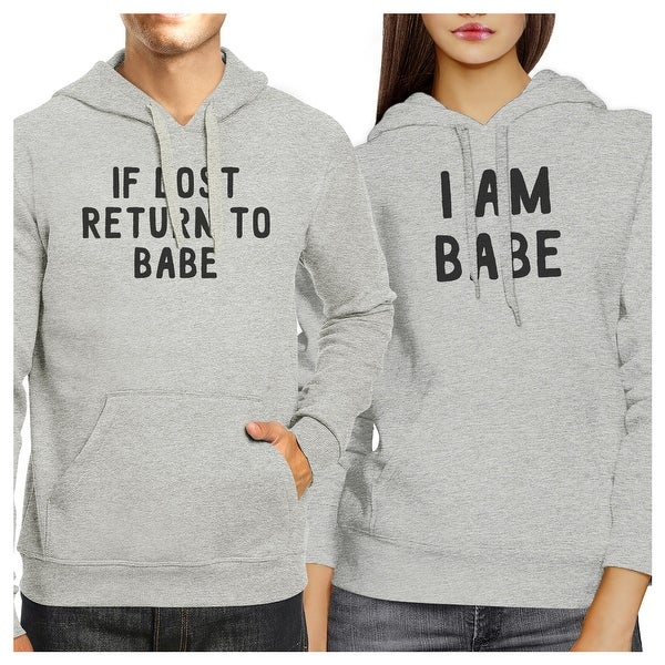 a77953c366 If Lost Return To Babe Funny Couples Matching Hooded Sweatshirts