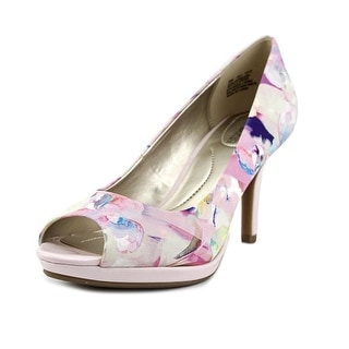 Bandolino Supermodel Peep-Toe Canvas Heels