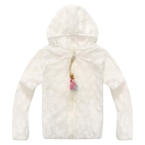 Richie House Girls' Lined Raincoat