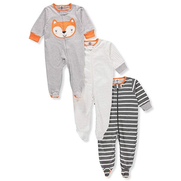 7dc6643ea3 Shop Gerber Onesies Baby Boy Sleep N Play Sleepers 3 Pack (Newborn ...