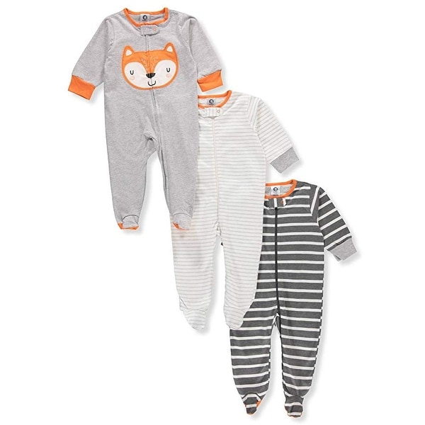 0f336d792 Shop Gerber Onesies Baby Boy Sleep N Play Sleepers 3 Pack (Newborn ...