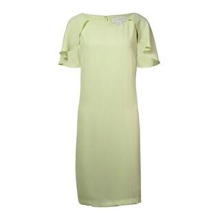 Jessica Simpson Woman's Capelet Sheath Dress