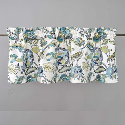 DriftAway Layla Classic America Style Floral Leaves Room Darkening Window Curtain Valance Rod Pocket