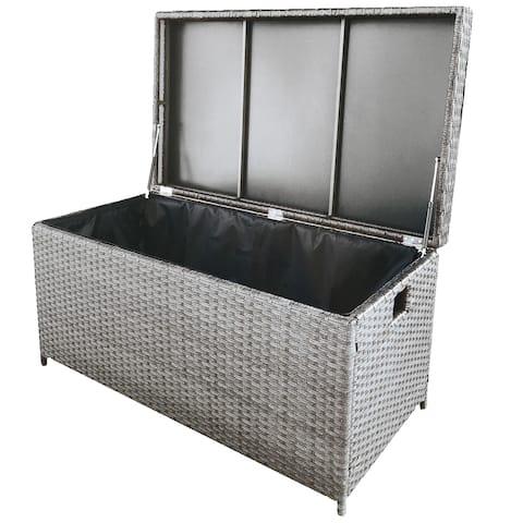 "49"" Gray Elegant Huge Rectangular Storage Box"
