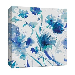 """PTM Images 9-147203  PTM Canvas Collection 12"""" x 12"""" - """"Whimsical Blues I"""" Giclee Flowers Art Print on Canvas"""