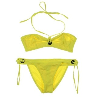 Proenza Schouler Womens Stretch Grommet Bikini Swimsuit - M