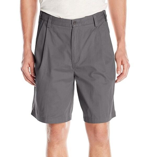 IZOD NEW Graphite Gray Mens Size 32 Extender Waist Khakis Chinos Shorts