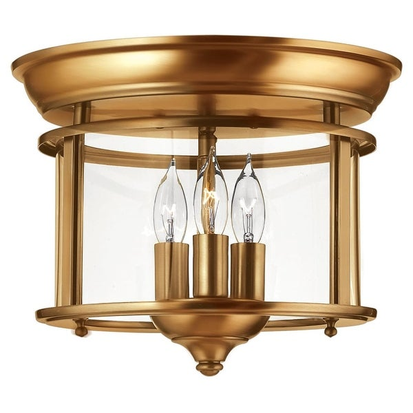 Hinkley Lighting 3473 3-Light Semi-Flush Ceiling Fixture from the Gentry Collection - N/A