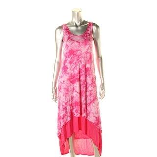 Kensie Womens Juniors Sleeveless Tie Dye Maxi Dress