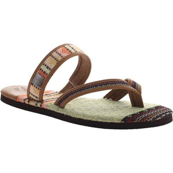13a6eecc9 Shop OTBT Women s Cokato Thong Sandal New Tan Leather - Free Shipping Today  - Overstock.com - 22904621