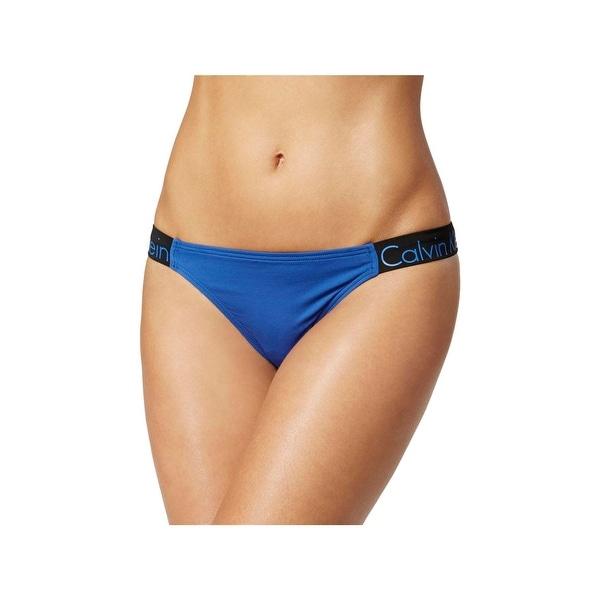 8e86238d47 Shop Calvin Klein Womens Cheeky Colorblock Swim Bottom Separates ...