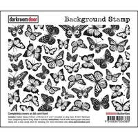 "Darkroom Door Background Cling Stamp 4""X6""-Butterflies"