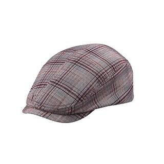 Fashion Plaid Ivy Cap, X-Large - Red Plaid - XL