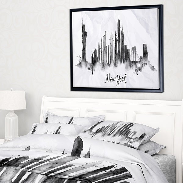 Designart Silhouette Ink New York Cityscape Throw Blanket On Sale Overstock 20910248 71 In X 59 In