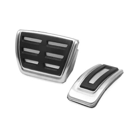 2Pcs Accelerator Brake Footrest Pedals Pad Set for Volkswagen Golf 7 Magotan