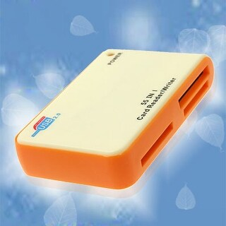 All in 1 USB SD Flash Memory Card Reader Writer Yellow