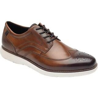 Rockport Men's Garett Wing Tip Cognac Leather