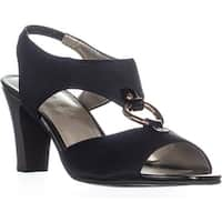 KS35 Lolaa Block Heel Slingback Sandals, Black
