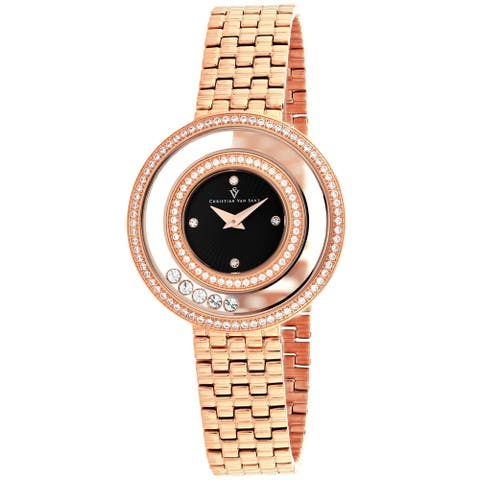 Christian Van Sant Women's Gracieuse Black Dial Watch - CV4833 - One Size