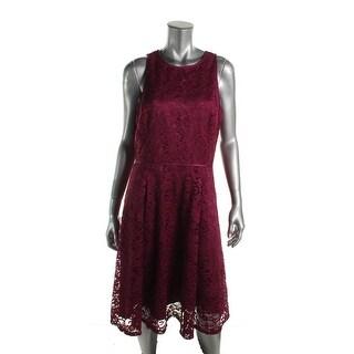 Tahari Womens Petites Cocktail Dress Lace A-Line