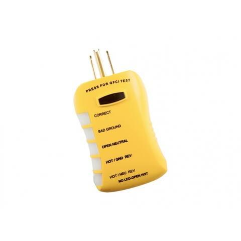 Gardner Bender HGT6520 Stop Shock II GFCI Outlet Circuit Analyzer Tester