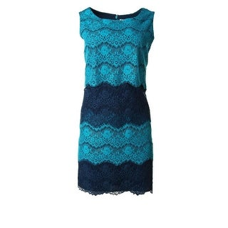 Jessica Simpson Womens Lace Sleeveless Casual Dress