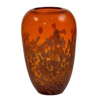 Dale Tiffany AV15533 Orange Gold 12 Inch Tall Hand Blown Glass Vase - N/A