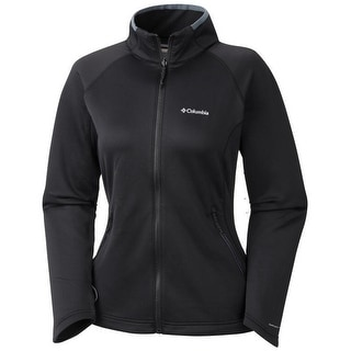 Columbia Women's Evap-Change Fleece Jacket, Smooth Face Stretch, Omni-Wick XS-XL - Black