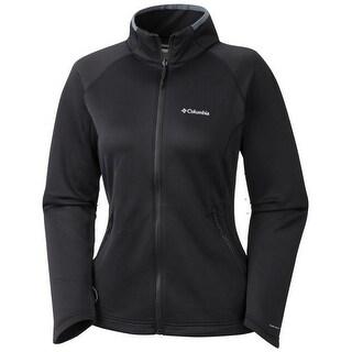 Columbia Women's Evap-Change Fleece Jacket, Smooth Face Stretch, Omni-Wick XS-XL - Black