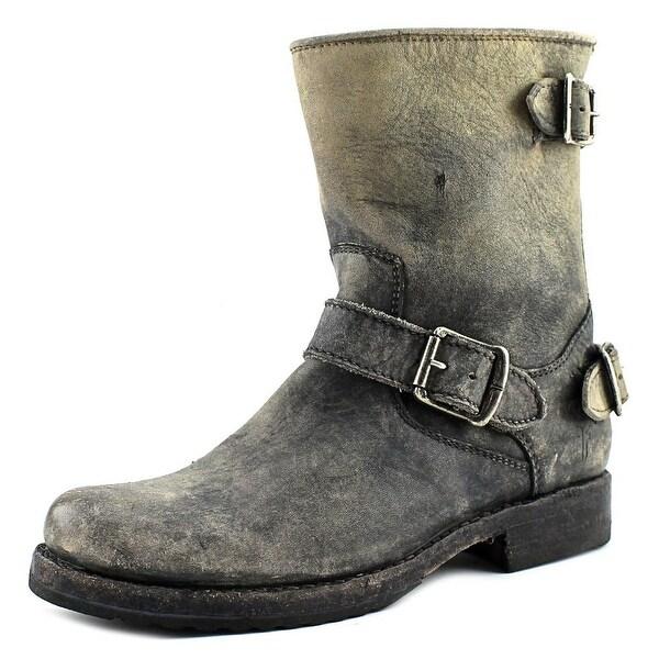 d58eee89beb6 Shop Frye Veronica Back Zip Short Round Toe Leather Mid Calf Boot ...