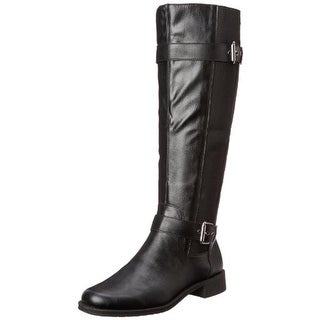 Aerosoles Womens Ride Out Riding Boots Faux Leather Belted