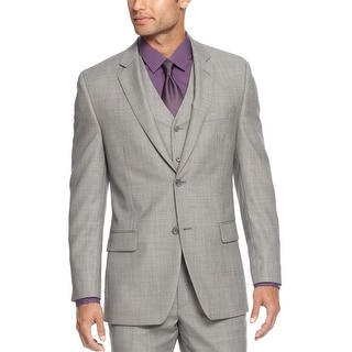 Alfani Red Label Sportcoat Light Grey Slim Two Button Blazer Suit-Separate
