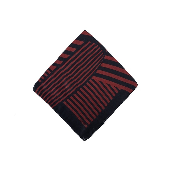 Tom Ford Red Black Abstract Stripe Silk Pocket Square