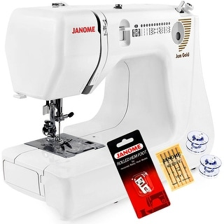 Janome Jem Gold 660 Lightweight Sewing Machine With Free 3-Piece VIP Package
