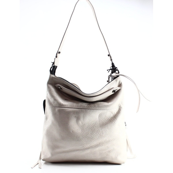 Shop Botkier NEW White Ivory Leather Logan Hobo Zip Top Shoulder Bag ... 07dae3b726