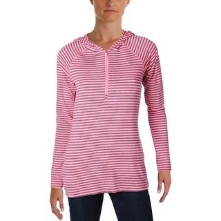 Jockey Womens 1/4 Zip Pullover Jersey Striped