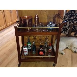 Carson Carrington I Love Living Wood Bar Cart
