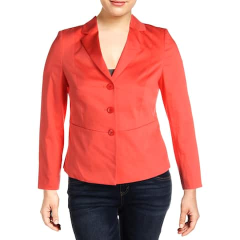 Basler Womens Three-Button Blazer Peplum Office - Pink